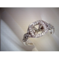 Twist Halo Engagement Ring