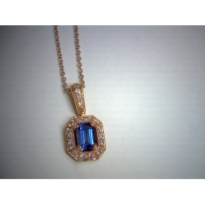 Blue Sapphire in Rose G..