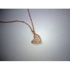 Rose gold diamond heart..