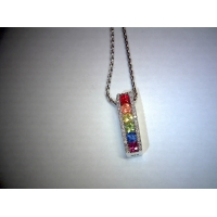 Multi Sapphire With Diamonds Pend..