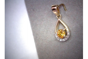 Citrine & Diamond Pendant