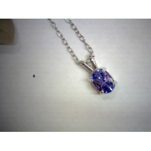 Oval Tanzanite Necklace