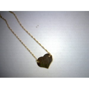 Yellow Gold Mini Heart Necklace