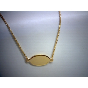 Mini Engravable Oval Plate Choker