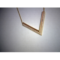 Yellow Gold Chevron Necklace