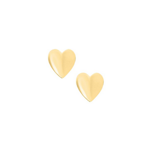 Yellow Gold Heart Children's Earrings