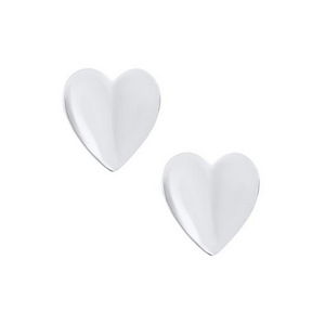Sterling Silver Heart Shaped Children's Earrings