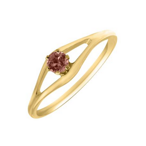 Yellow Gold Children's Birthstone Ring