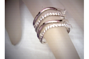 4 Row Diamond Band