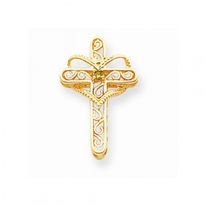 14K Mother's Cross Pendant