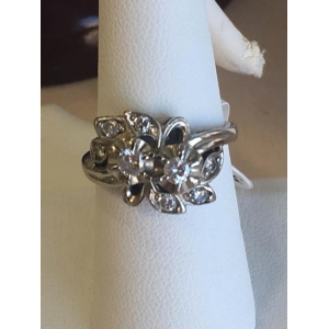 Estate White Gold 2 Main Stone Ring