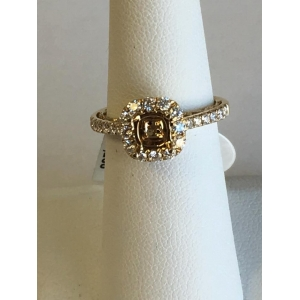 Yellow Gold Diamond Halo Mounting
