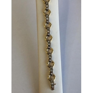 Estate Two Tone Diamond Bracelet