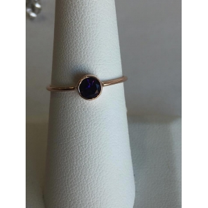 Rose Gold Amethyst Bezel Ring