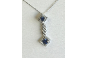 White Gold Blue Sapphir..