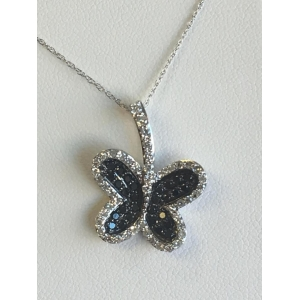 Black and White Butterfly Pendant