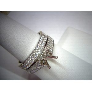 Double Row Diamond Wedd..