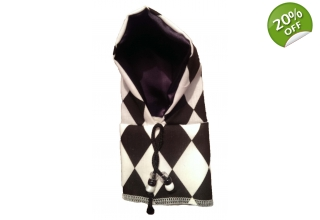 Harlequin black and white hoody