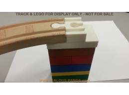 2x Custom Lego Duplo BRIDGE Train Track Adapter Tomy Thomas Brio wood riser support
