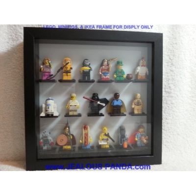 Lego Frame Display Insert for IKEA Ribba Shadow Box. HOLDs 17 Series Minifigs