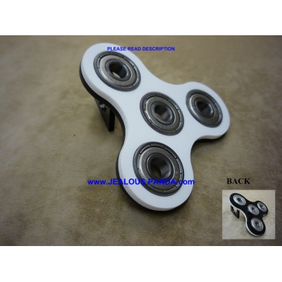 Tri-Spinner Fidget Toy Acrylic EDC Hand Finger Spinner Desk Focus bi-Color