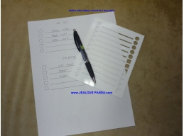 Template Stencil to make To Do Wish Grocery Shopping Gift Check List ruler guide
