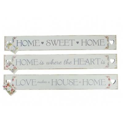 Floral Slogan Heart Cut Out Plaque / Sign title=