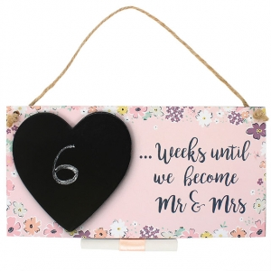 Countdown Chalkboard Plaque - Mr & Mrs