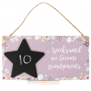 Countdown Chalkboard Plaque - Grandpar..