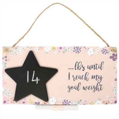 Countdown Chalkboard Plaque - Goal Weight title=