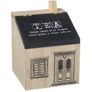 House Shaped Tea Box Ca..