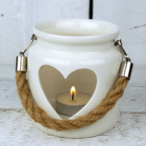 Porcelain White Heart C..
