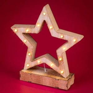 Wooden LED Light Up Sta..