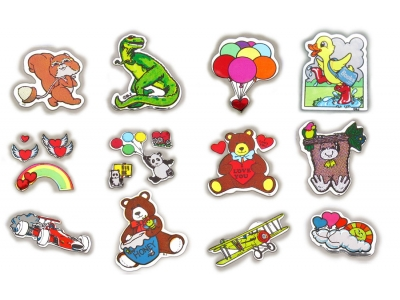 Choice Vintage 80's Decal Specialties Mylar Foil Mini Sticker Mods