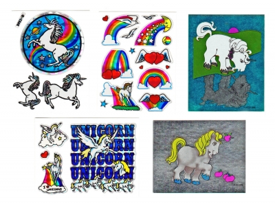 Choice Vintage 80's Prism or AFCO Foil Unicorn Sticker Sheet