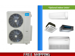 Midea Custom 48K Multi 2-5 Zone Mini Split Heat Pump AC System