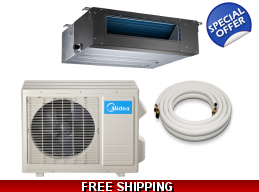 Midea 18000 Btu 15.5 Seer Slim Ducted Mini Split..