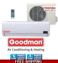 Goodman 12000 Btu 19 Seer Mini Split Heat Pump AC 220v