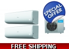 21 Seer 2 Room Dual Zone Mini Split He..
