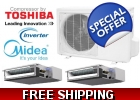 Midea Dual Zone 18k Ducted Mini Split..