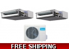 16 Seer 2 Room Dual Zone Ducted Mini ..