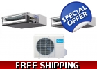 16 Seer 2x18000btu Ducted Mini Split ..
