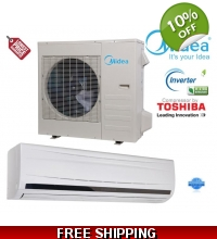 Midea 36000 Btu 220v DC Inverter 15 Seer Mini Split Heat Pump AC