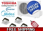 Midea Quad Zone Ceiling Cassette Mini..