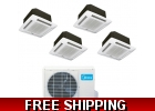 16 Seer 4 Room Quad Zone Ceiling Cass..