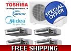 Midea Quad Zone Ducted Mini Split Hea..