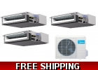 16 Seer 3 Room Tri Zone Ducted Mini S..