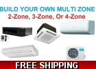 Custom Built Multi Zone Ductless Mini..