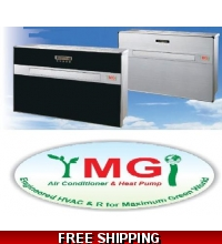 "YMGI Flat Panel 9000 Btu Ductless Heat Pump Air Conditioner ""Mini Package System"""