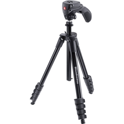 Manfrotto MKCOMPACTACN-BK Compact Action Tripod Kit